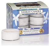 Yankee Candle Tea Light Candles, Midnight Jasmine, Pack of 12