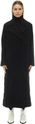 Leila Paltò Long Wool Blend Coat