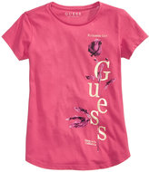 GUESS Rose-Print Logo Cotton T-Shirt, Big Girls (7-16)
