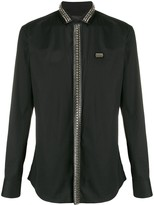 Philipp Plein studded long-sleeved shirt