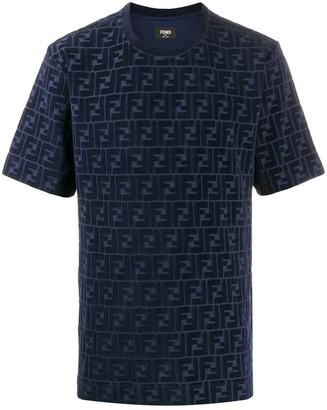 Fendi velvet monogram T-shirt