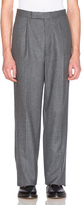 Thom Browne Distressed Wool Flannel Trousers