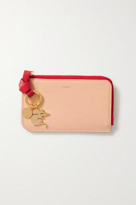 Chloé Alphabet Two-tone Leather Cardholder
