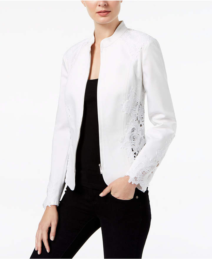 INC International Concepts I.n.c. Petite Lace-Inset Jacket, Created for Macy's