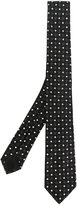 Givenchy star and micro-cross embroidered tie
