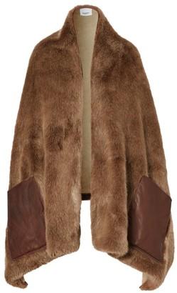 Burberry Faux-Fur Pocket Stole