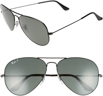 Ray-Ban Original 62mm Polarized Aviator Sunglasses