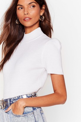 Nasty Gal Womens Shoulder Than You High Neck Top - White