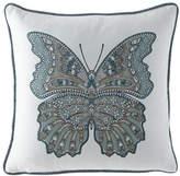 """Elaine Smith Mariposa Lagoon Pillow, 20""""Sq."""
