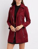 Charlotte Russe Wool Blend Moto Coat