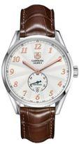 Tag Heuer Mens Carrera One-Eye Chronograph Alligator Strap Watch