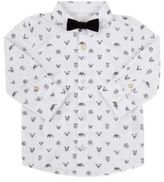 Billy Bandit Dog-Print Shirt-WHITE