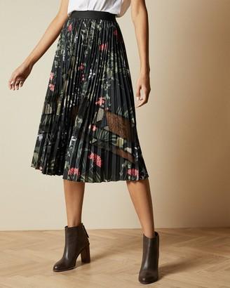Ted Baker ABILEN Highland pleated lace skirt