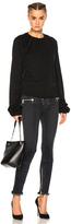 Unravel Terry Oversize Sleeve Raglan Sweatshirt in Black.
