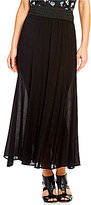 I.N. Studio Pull-On Crepon Seamed Maxi Skirt