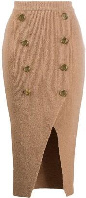 Balmain Knitted Mid-Length Skirt