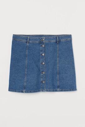 H&M H&M+ A-line denim skirt