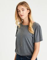 American Eagle Outfitters AE Bubble Hem Puff-Sleeve T-Shirt