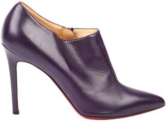 Christian Louboutin Purple Leather Ankle boots