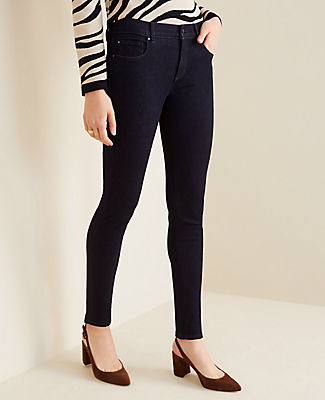 Ann Taylor Petite Sculpting Pocket Skinny Jeans in Classic Rinse Wash