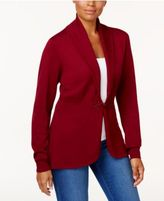 Karen Scott Long-Sleeve Clasp Cardigan, Only at Macy's