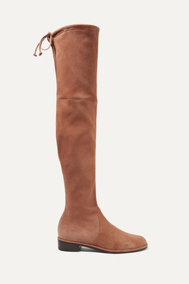 Stuart Weitzman Lowland Suede Over-the-knee Boots - Light brown