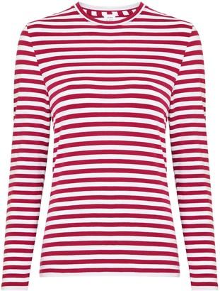 John Lewis & Partners Long Sleeve Stripe Cotton Rich Jersey Top