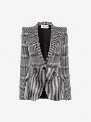 Alexander McQueen Pieced Check Jacket