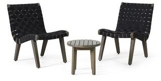 Christopher Knight Home Charlotter Outdoor Rope and Acacia Wood Outdoor Chat Set