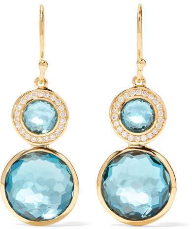 Ippolita Lollipop 18-karat Gold, Topaz And Diamond Earrings