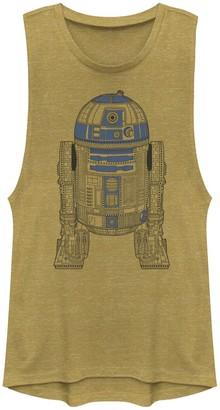 Star Wars Juniors' R2-D2 Outline Muscle Tee