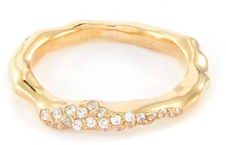 Joanna Laura Constantine Crystal embellished wave ring