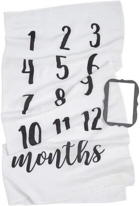 Mud Pie Monthly Milestone Blanket & Frame Set