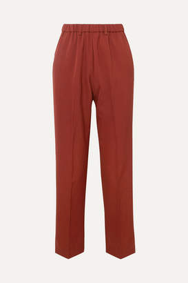 Forte Forte Twill Slim-leg Pants - Brick