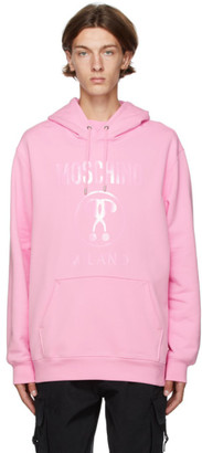 Moschino Pink Double Question Mark Hoodie