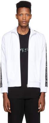 Givenchy White Logo Tape Zip-Up Jacket