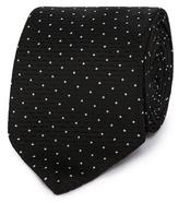 Black Tie Black Spot Textured Tie