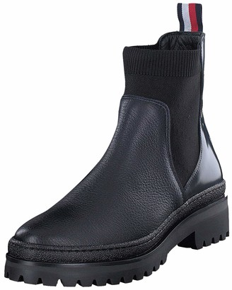 Tommy Hilfiger Women's Corporate Ribbon Chelsea Ankle Boots