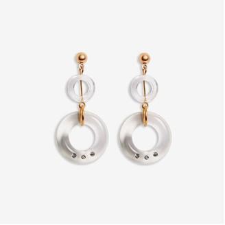 Joe Fresh Women's Clear Loop Drop Earrings, Gold (Size O/S)