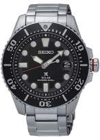Seiko Gents Black Dial Stainless Steel Bracelet Watch