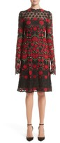 Naeem Khan Women's Floral Embroidered Elongated Sleeve Dress