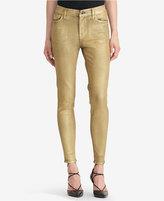 Lauren Ralph Lauren Metallic Stretch Skinny Jeans