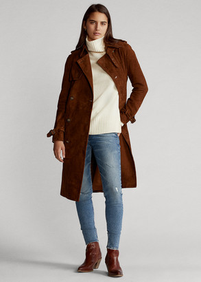 Ralph Lauren Suede Trench Coat
