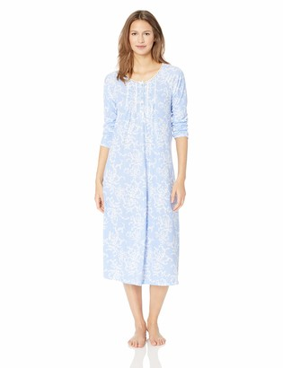 Aria Women's Printed Long Sleeve Ballet Nightgown