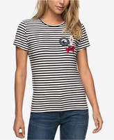 Roxy Juniors' Striped Patches T-Shirt