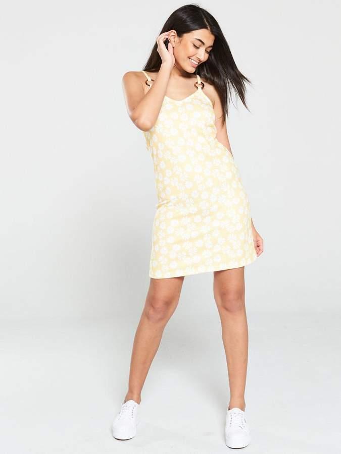 Very Trim Printed Slip Dress - Multi