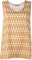 Issey Miyake printed jersey tank top - women - Cotton/Polyester/Lyocell - 2
