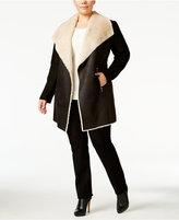 Calvin Klein Plus Size Faux-Shearling Jacket