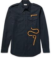 Dries Van Noten - Chale Slim-fit Grosgrain-trimmed Cotton-flannel Shirt
