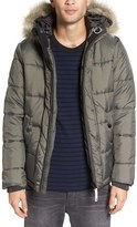G Star Men's Whistler Faux Fur Trim Jacket